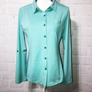 Parma Kinley Mint striped/polka dot button up. H51
